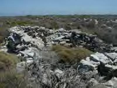 Wiebbe Hayes fort on the Abrolhos.